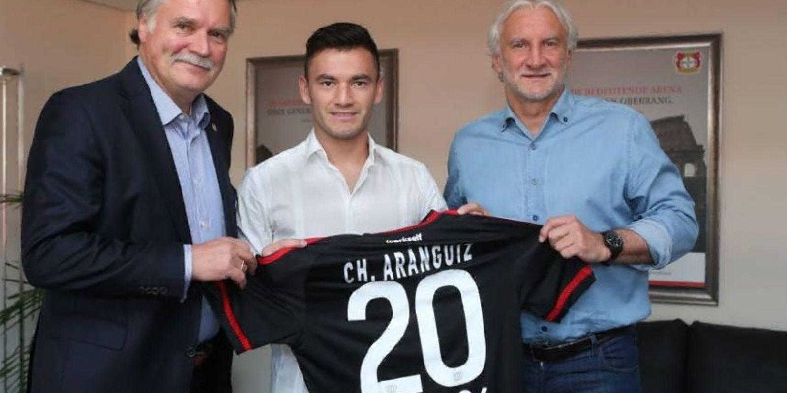 Charles Aranguiz (Bayer Leverkusen/Chile) Foto:Vía facebook.com/bayer04fussball