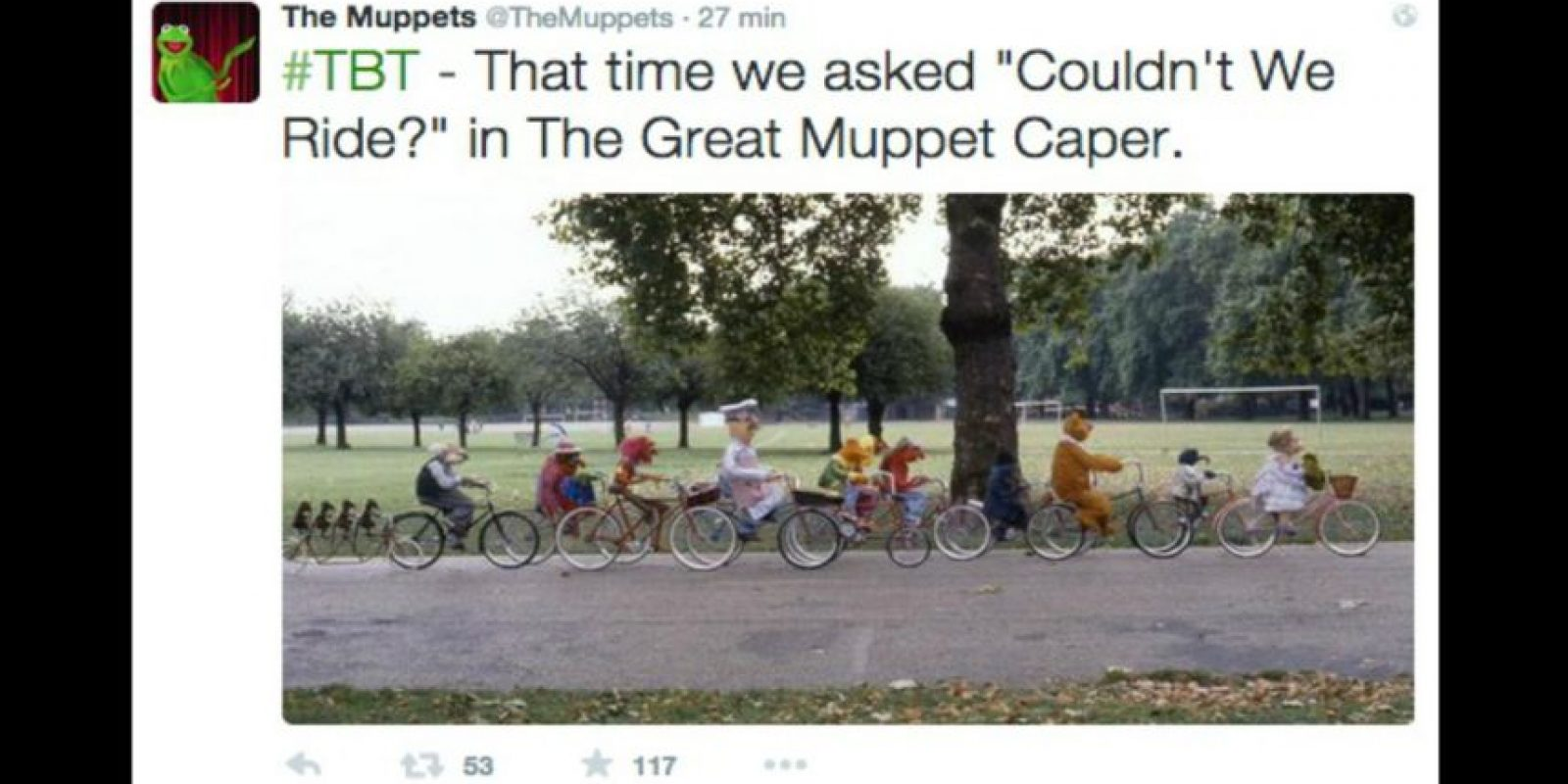 """""""Los Muppets"""" Foto:Twitter/TheMuppets"""