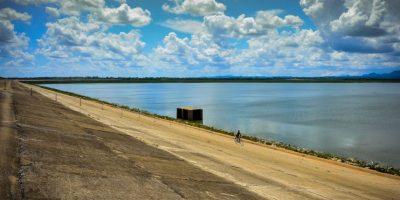 El embalse de Los Palacios, en Cuba, que está en alerta por sequía. Foto:AFP