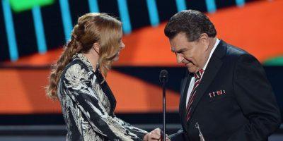 """""""Don Francisco recibió el premio """"Gigante de Gigantes"""" Foto:Getty Images"""