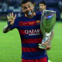 Lateral derecho: Dani Alves (Barcelona/Brasil) Foto: Getty Images