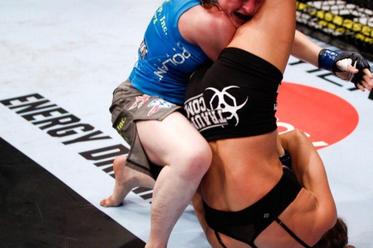 6-0 vs. Sarah Kaufman en Strikeforce: Rousey vs. Kaufman. Foto:Getty Images