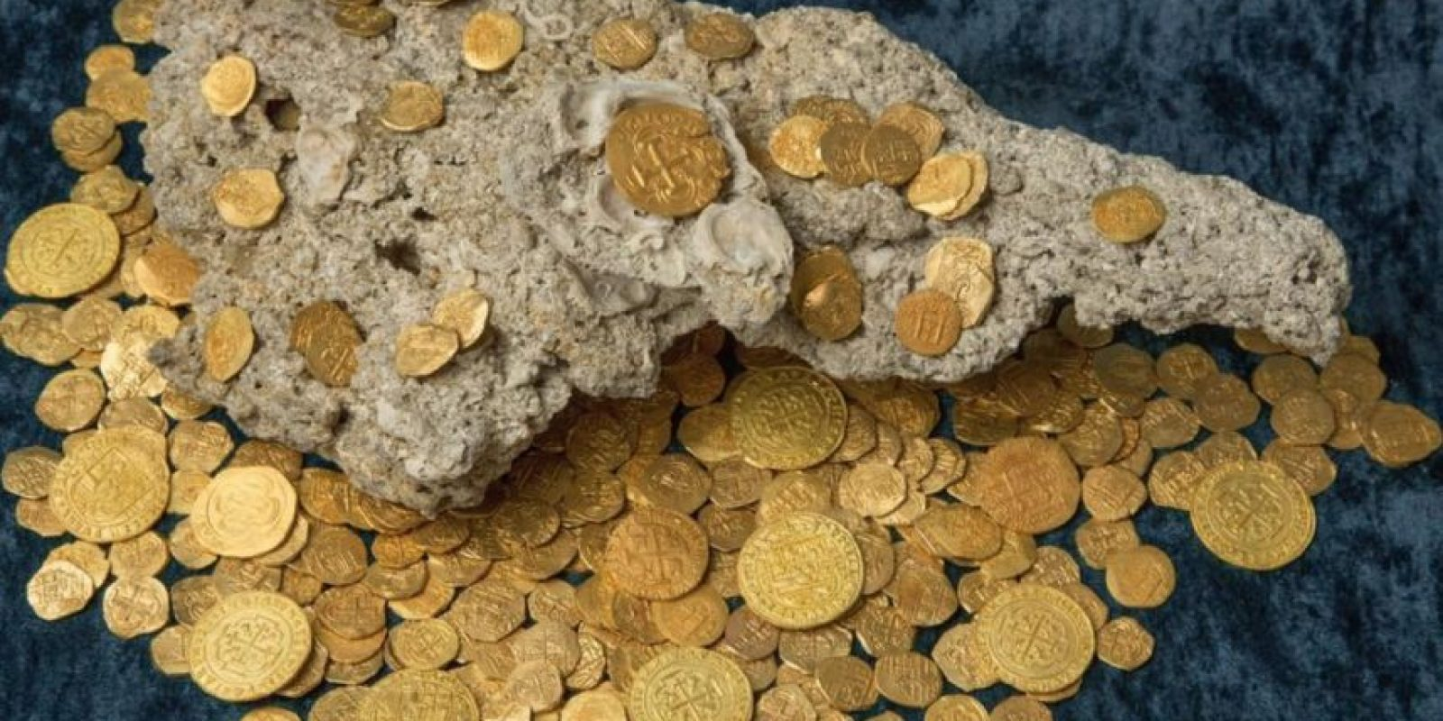 El hallazgo se produjo en Vero Beach, unos 20 kilómetros al norte de Fort Pierce donde fueron encontradas las otras monedas. Foto:Vía facebook.com/1715-Fleet-Queens-Jewels-LLC