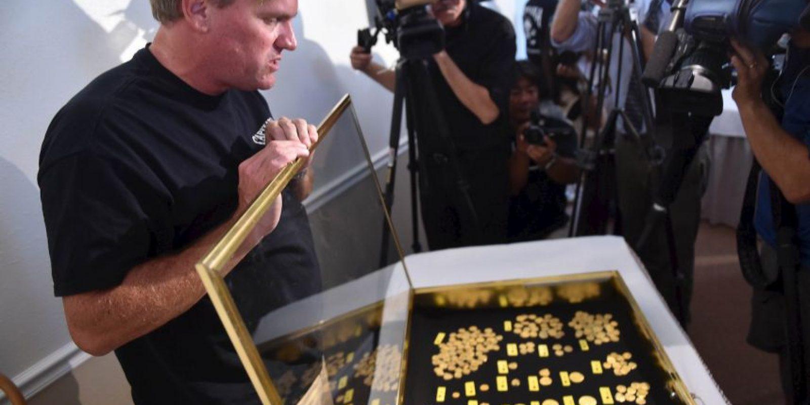 Otras 53 monedas fueron halladas en junio. Sin embargo, aquellas estaban un poco dañadas. Foto:AP