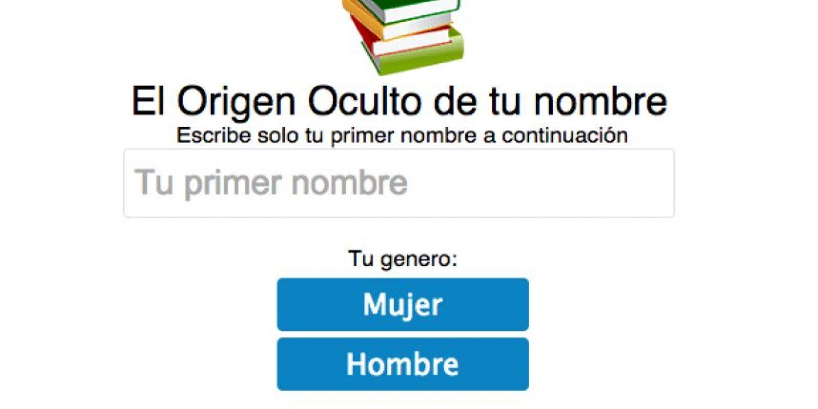 """Un test creado por el sitio web """"eWikin"""" revela el significado """"oculto"""" de tu nombre. Sólo se ingresa y luego se escoge si es nombre de mujer y hombre y … Foto:eWikin.com"""