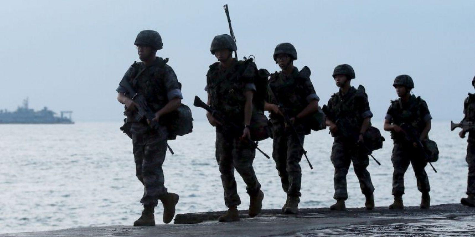 """La """"batalla"""" entre ambos países arrancó a principios de este mes cuando dos soldados surcoreanos resultaron heridos por la explosión de minas, de las que se acuso como responsable a Corea del Norte. Foto:AFP"""