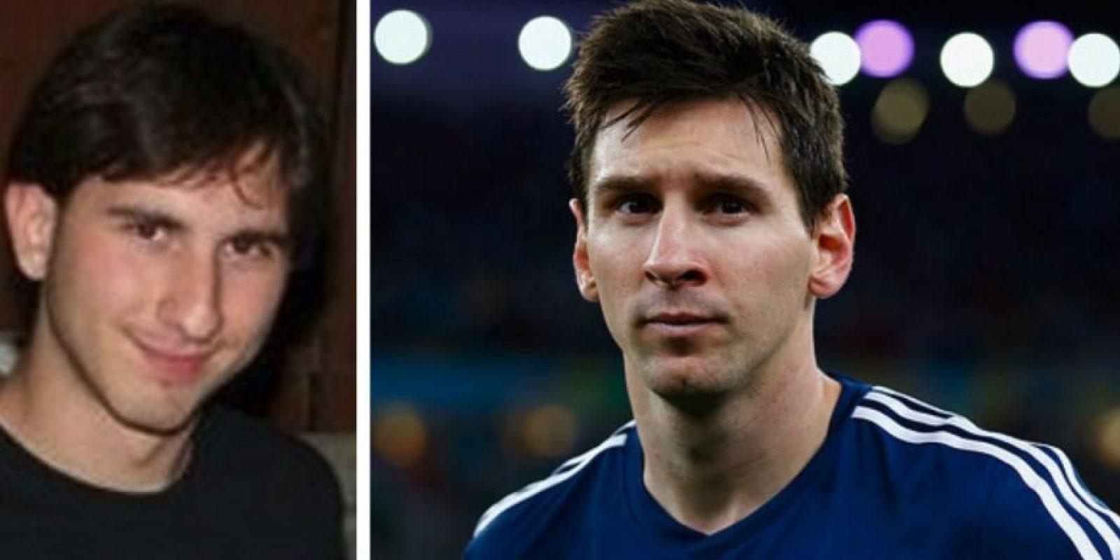 Igual a Lionel Messi Foto: Reddit/Getty