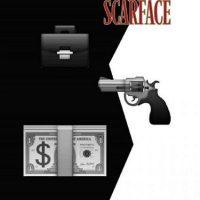 Scarface (1983). Foto:vía emojifilms.tumblr.com