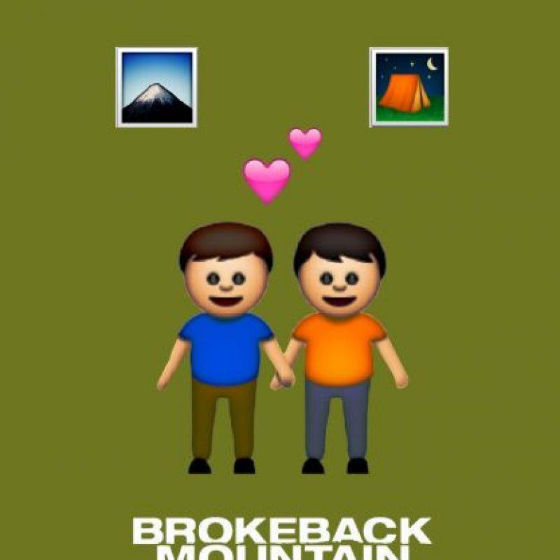 Brokeback Mountain (2005). Foto:vía emojifilms.tumblr.com