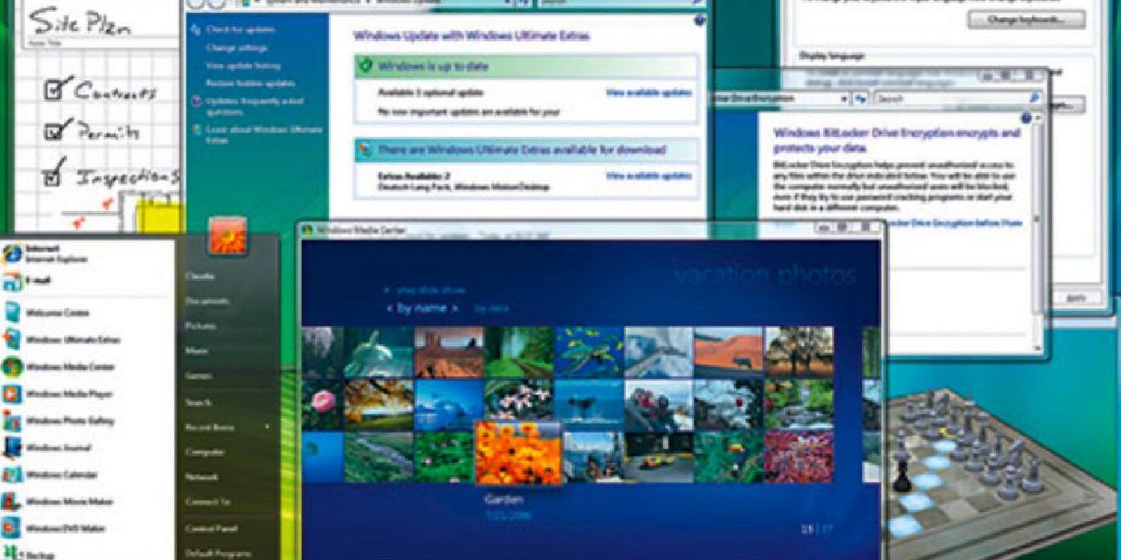 En el año 2006, Microsoft anunció la llegada del Windows Vista. Así es como lucía esta interfaz Foto:windows.microsoft.com