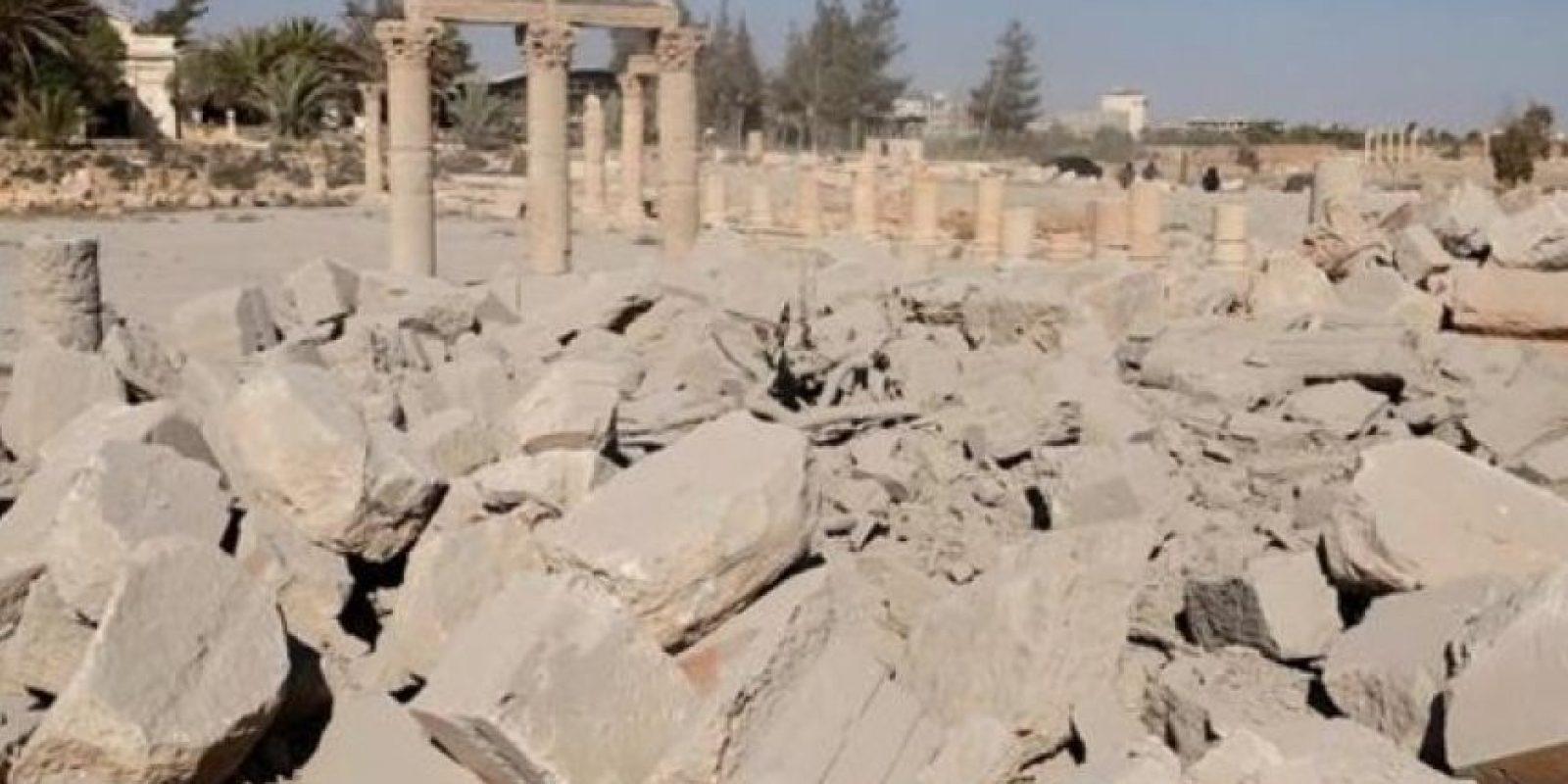 Y no quedó nada del templo en Baalshamin Foto:Estado Islámico
