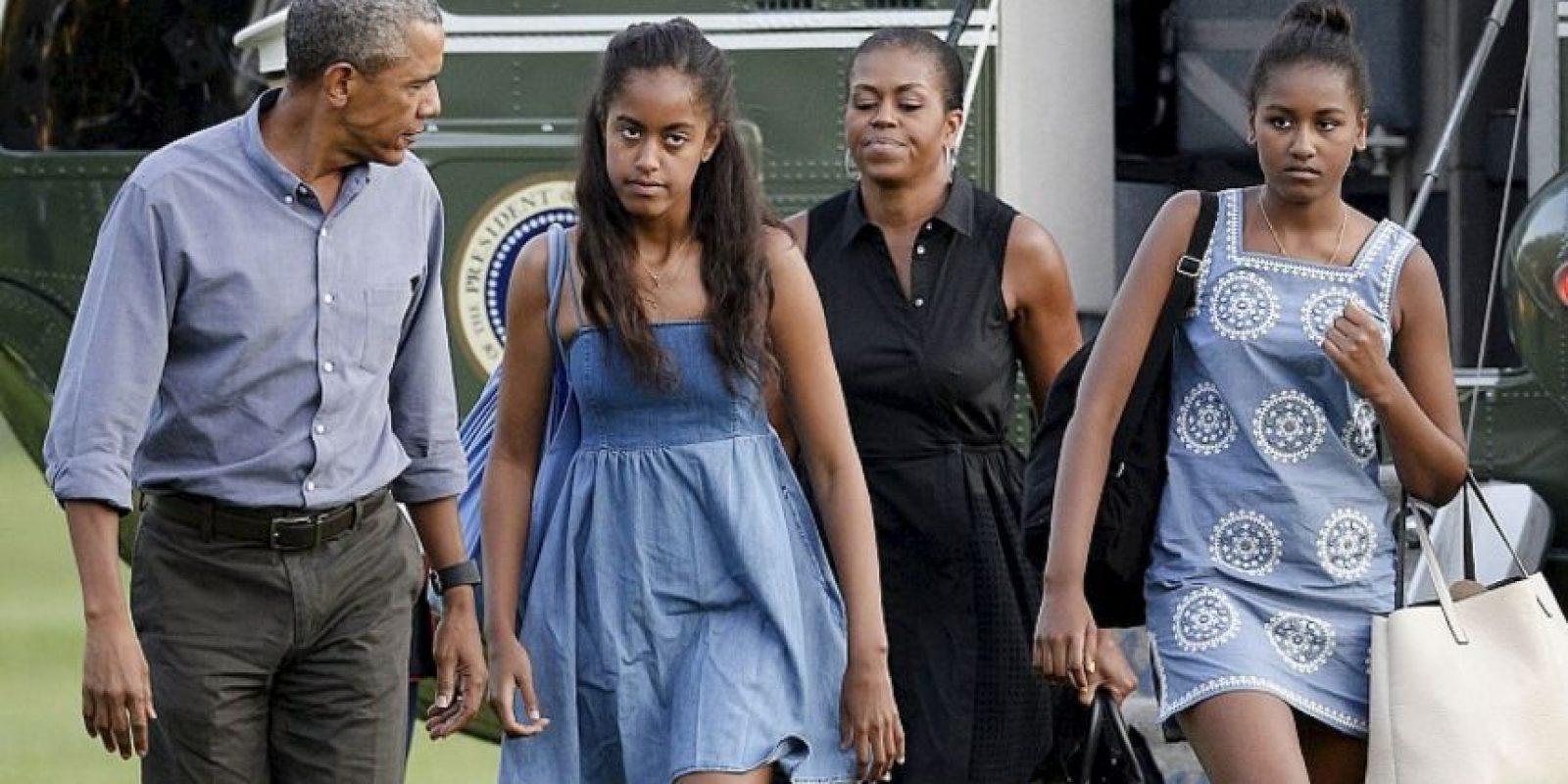 El presidente Barack Obama y su familia parecen tener síndrome postvacacional. Foto:Getty Images