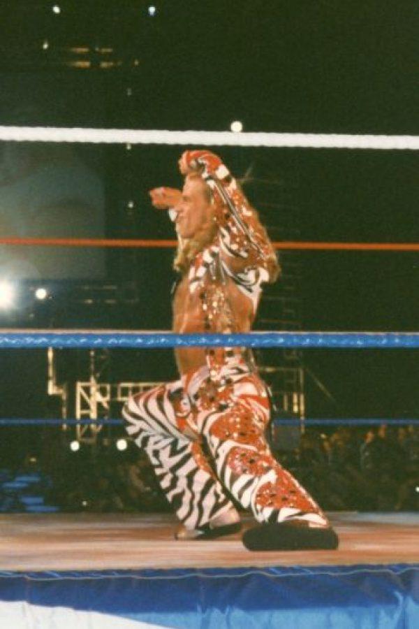 No está alejado de la lucha libre. En Wrestlemania 31 ayudó a Triple H para que venciera a Sting Foto:WWE