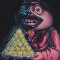 """Would You Like A Smile For Dessert"" (2015) de Aof Smith. Cuesta dos mil 800 dólares. Foto: Arch Enemy Arts"