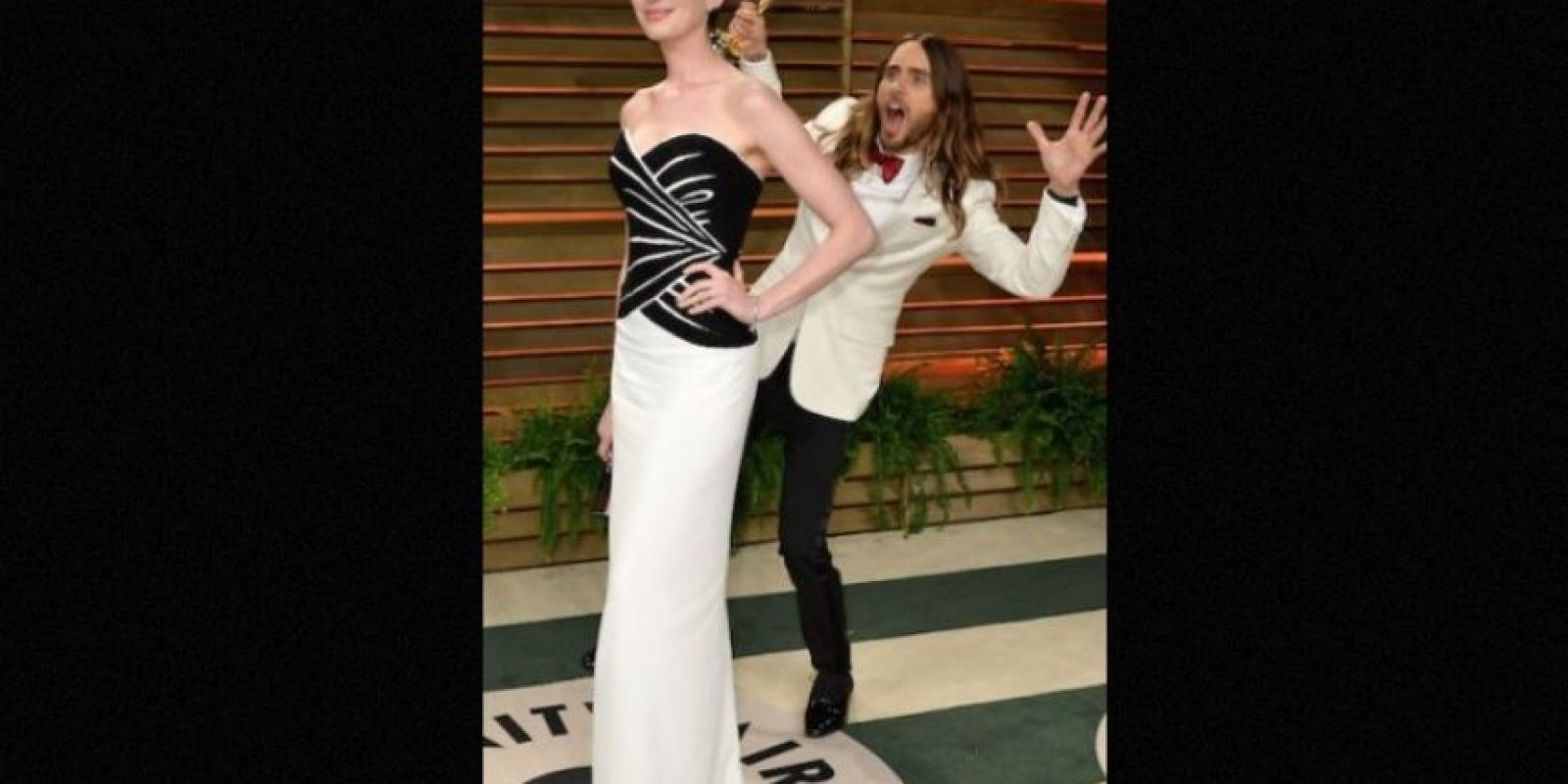 Anne Hathaway y Jared Leto Foto:Getty Images