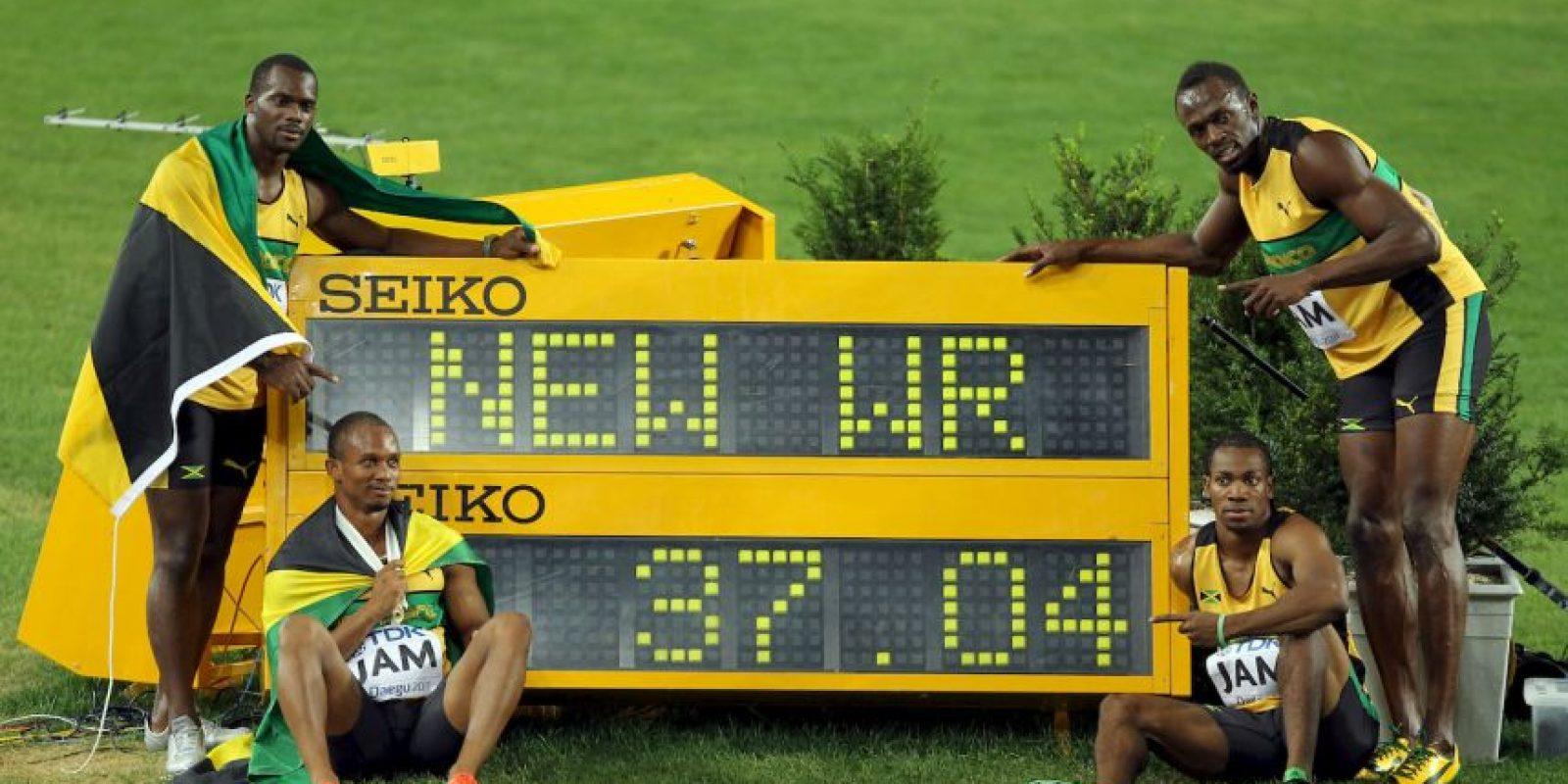 Medalla de Oro en el Mundial de Atletismo 2011 en relevos 4×100 metros. Foto:Getty Images