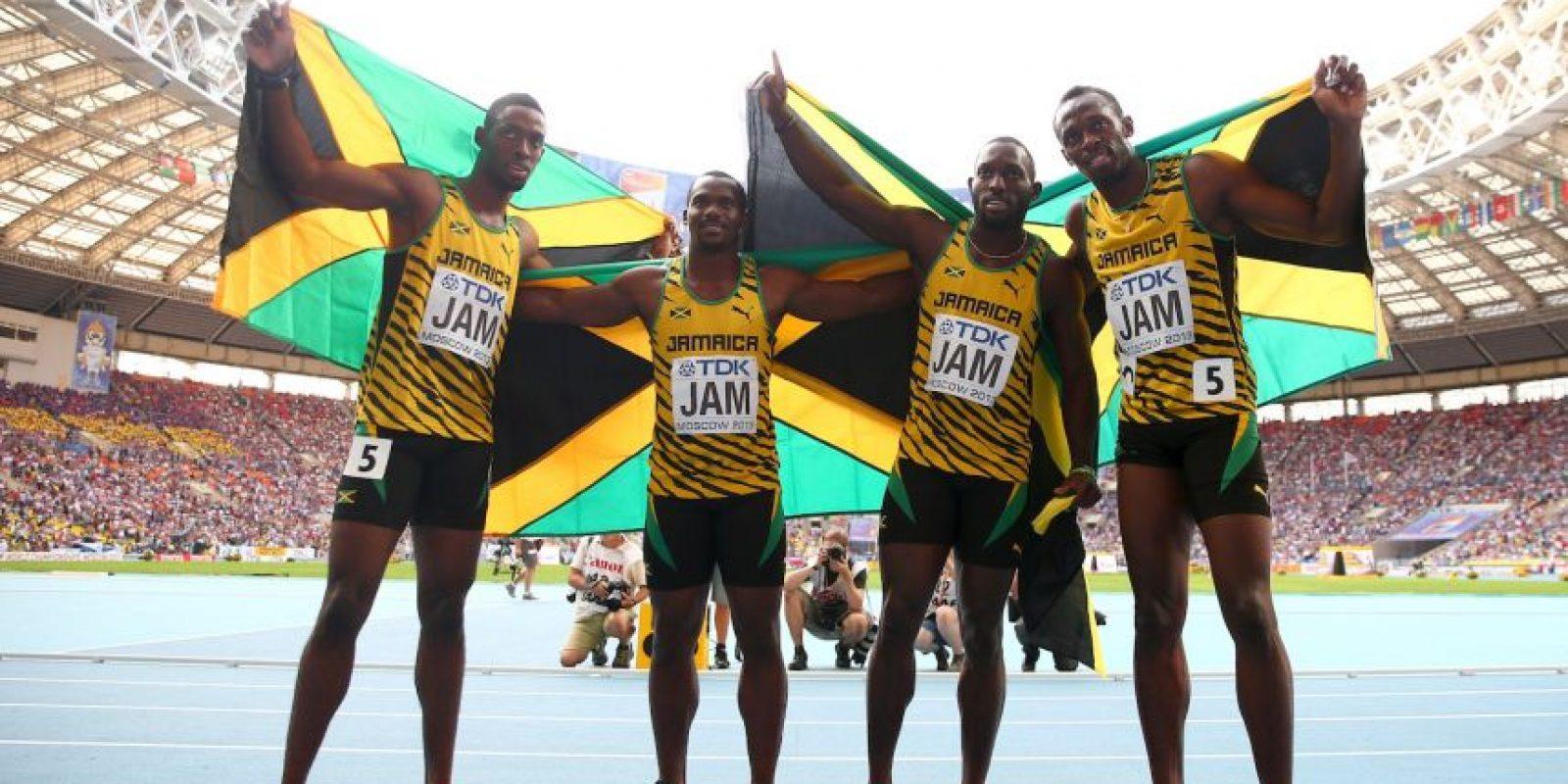 Medalla de Oro en el Mundial de Atletismo 2013 en relevos 4×100 metros. Foto:Getty Images