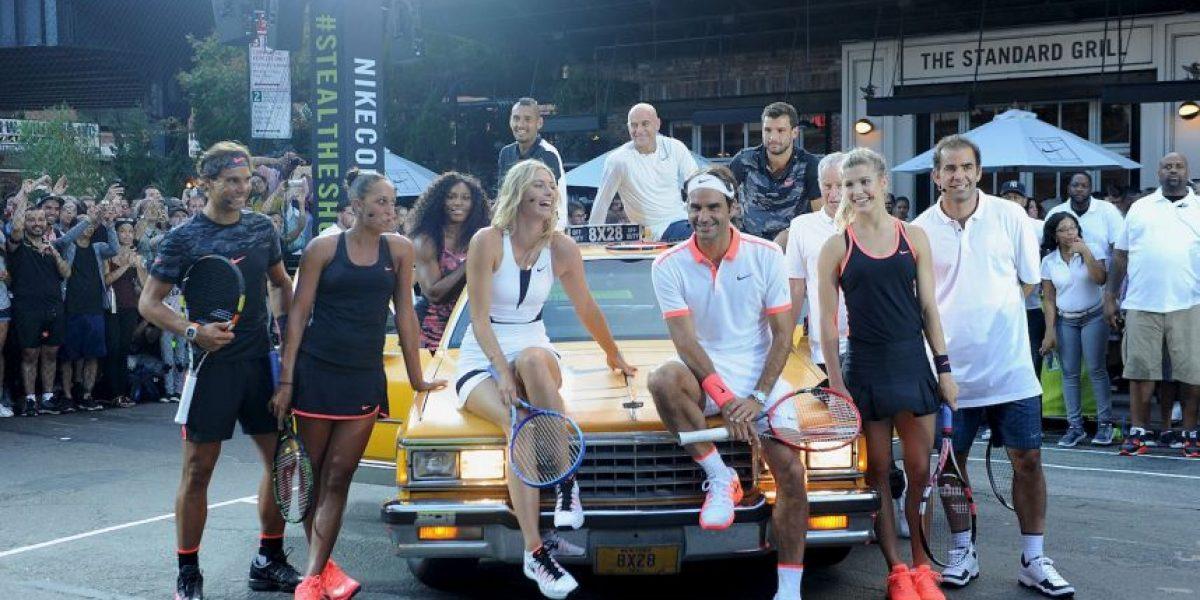 Fotos: Leyendas del tenis toman las calles de Nueva York