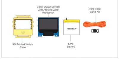 Así se ven los componentes del dispositivo Foto:O Watch/Kickstarter