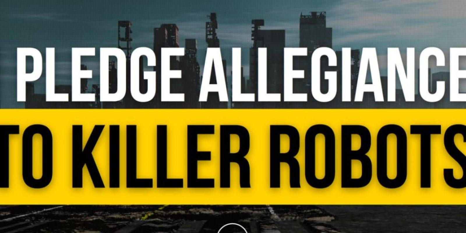 El sitio cuenta con más 100 miembros en todo el mundo Foto:IPledgeAllegianceToKillerRobots.com