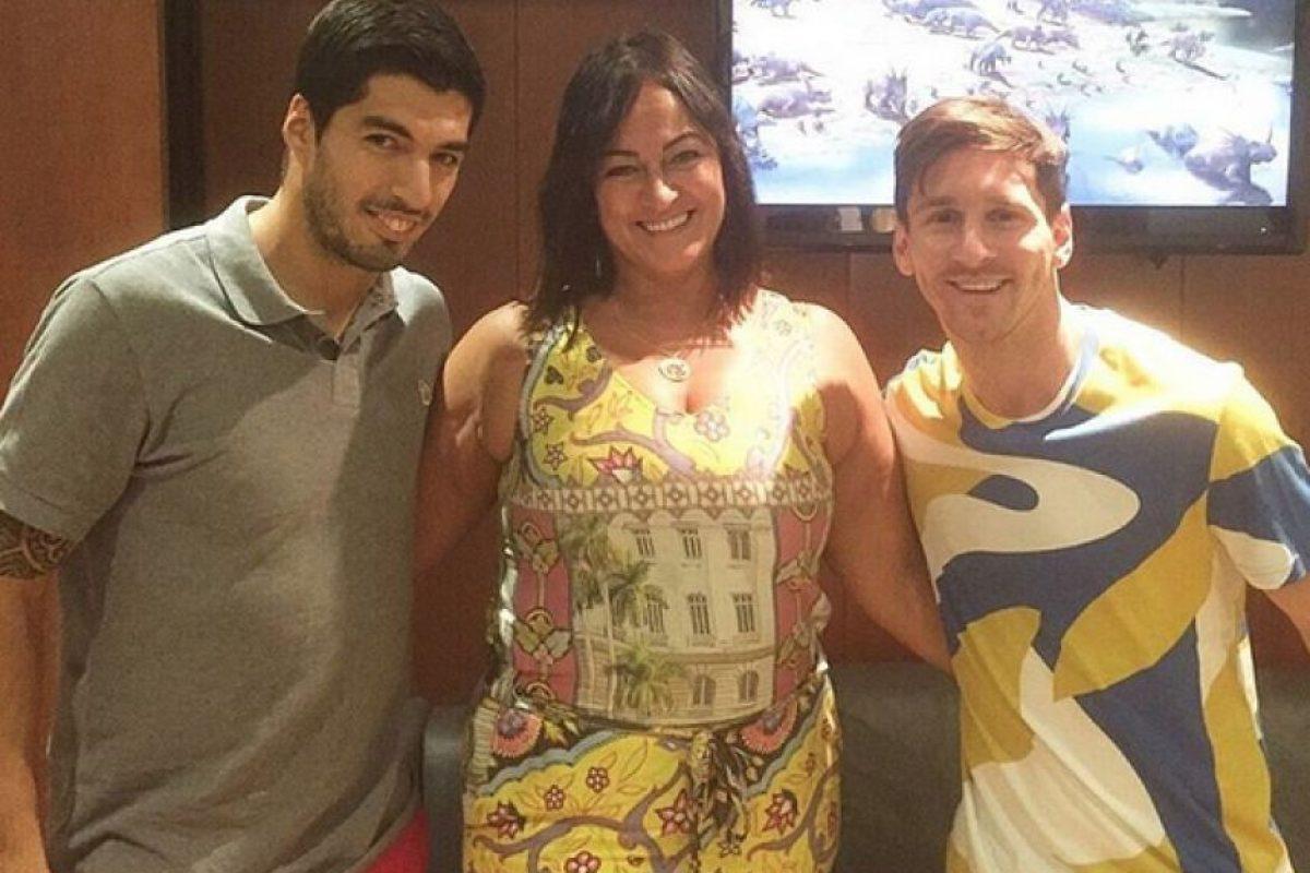 Y su madre, Nadine, quien se fotografió con Suárez y Messi. Foto:Vía instagram.com/nadine.goncalves