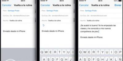 Con solo tocar el micrófono en el teclado puede realizar dictados con presionar OK lo tendrán escrito en el iPhone. Foto:Apple