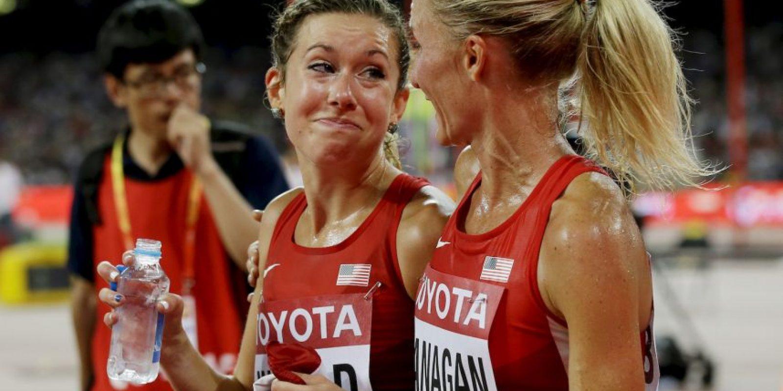 En la final de los 10 mil metros en el Mundial de Atletismo de Beijing 2015. Foto:Getty Images