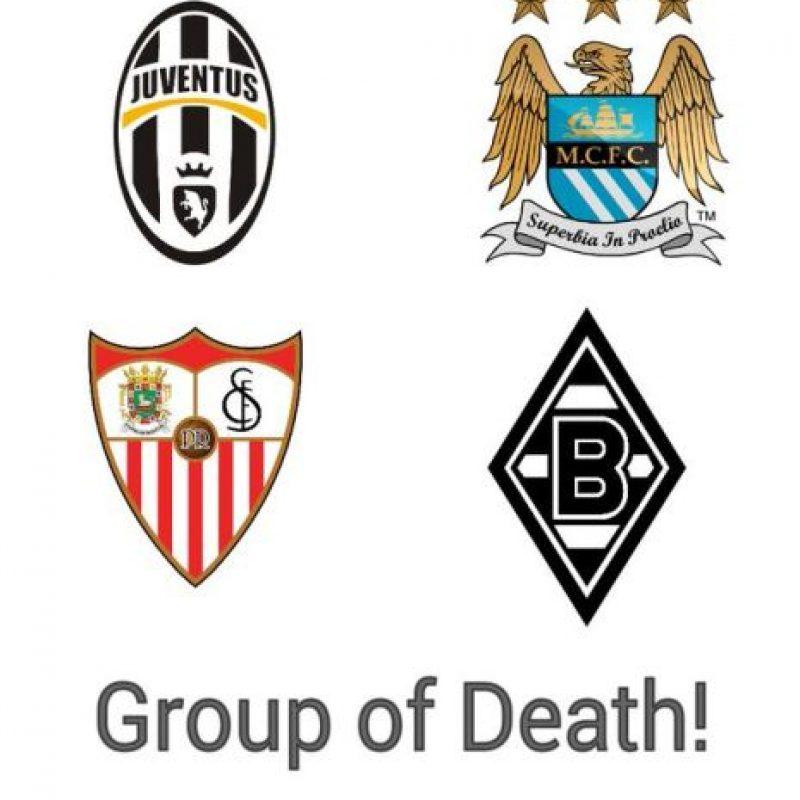 """Una vez sorteados los grupos, este fue el de la """"muerte"""". Foto:Vía twitter.com"""