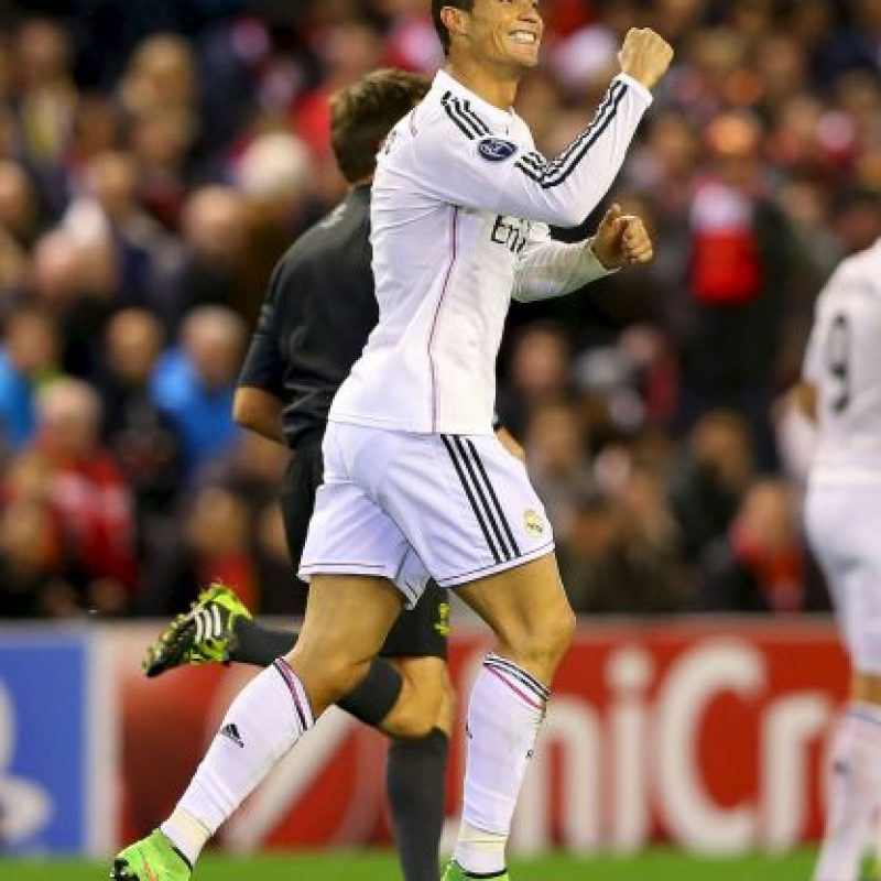 2. Gol de Cristiano Ronaldo (Real Madrid) al Liverpool. Foto: Getty Images