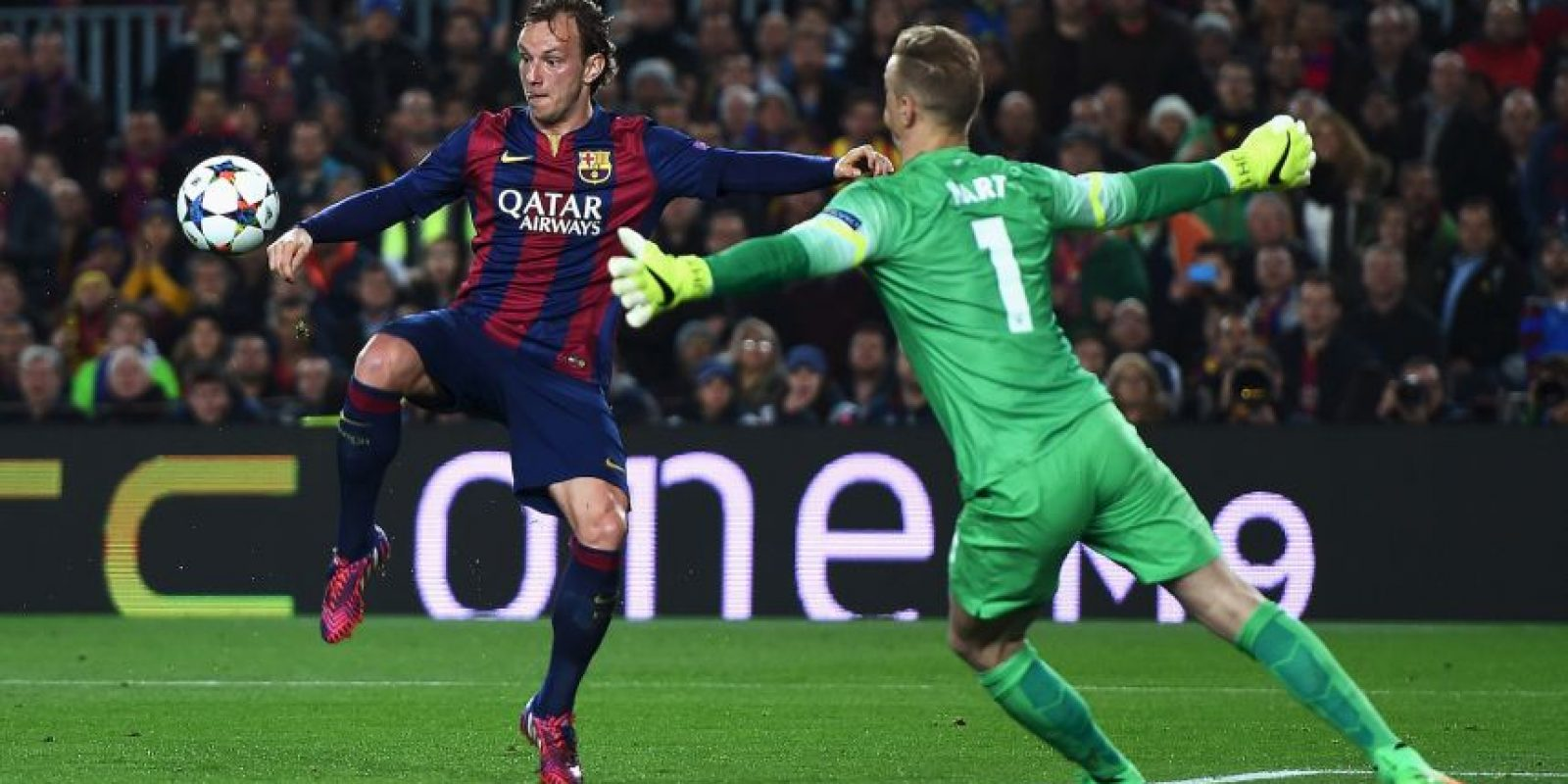5. Joe Hart (Manchester City) ante Barcelona. Foto: Getty Images