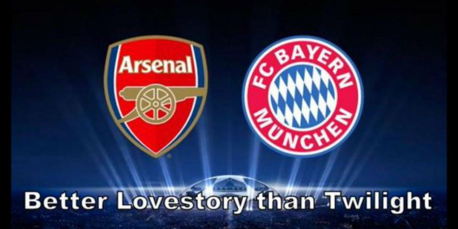 Al Arsenal tampoco le agradó mucho toparse al Bayern Munich. Foto:Vía twitter.com