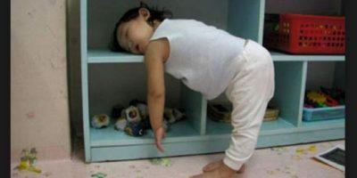 Esta pequeña se quedó dormida en el camino… Foto:Vía Tumblr