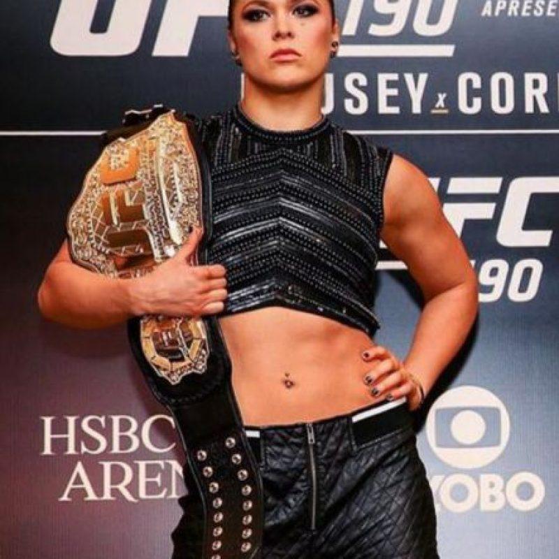 Ronda Rousey es la campeona invicta del peso gallo de mujeres de la UFC. Foto:Vía instagram.com/rondarousey