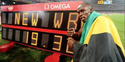 Medalla de Oro en Pekín 2008 en 200 metros planos. Foto:Getty Images