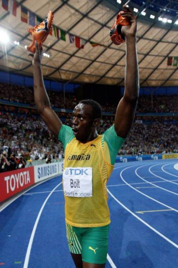 Medalla de Oro en el Mundial de Atletismo 2009 en 200 metros planos. Foto:Getty Images