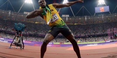 Medalla de Oro en Londres 2012 en 100 metros planos. Foto:Getty Images