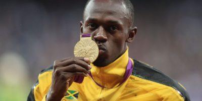 Medalla de Oro en Londres 2012 en 200 metros planos. Foto:Getty Images