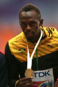 Medalla de Oro en el Mundial de Atletismo 2013 en 100 metros planos. Foto:Getty Images