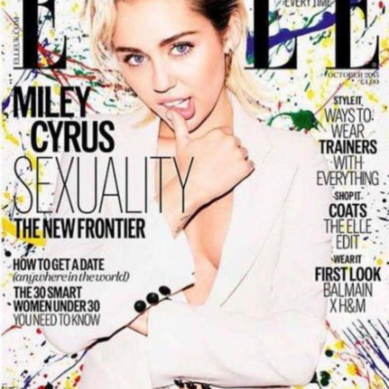 "Portada de la revista ""Elle"" Foto:Instragram/MileyCyrus"