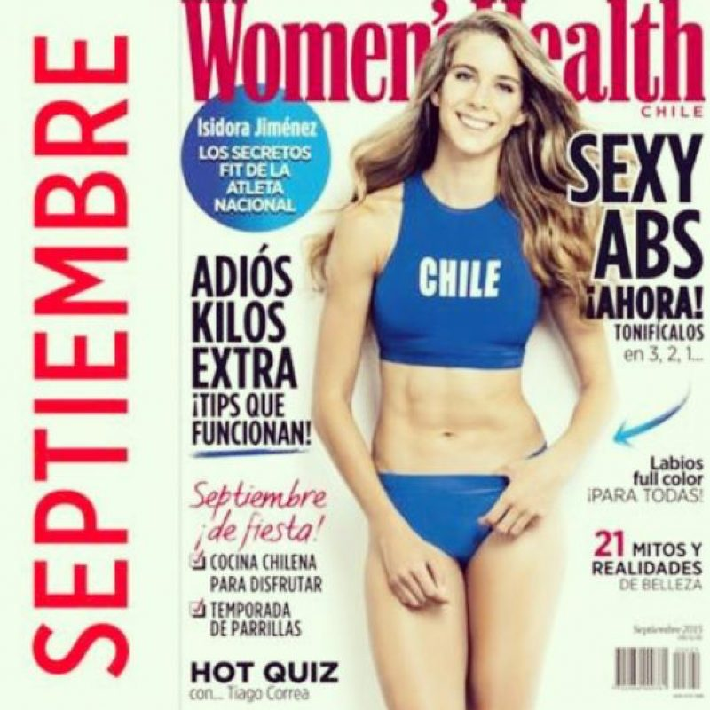 Así luce en la portada de Women's Health Foto:Vía instagram.com/isijimenezi