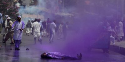 Protestas en India. Foto:AFP