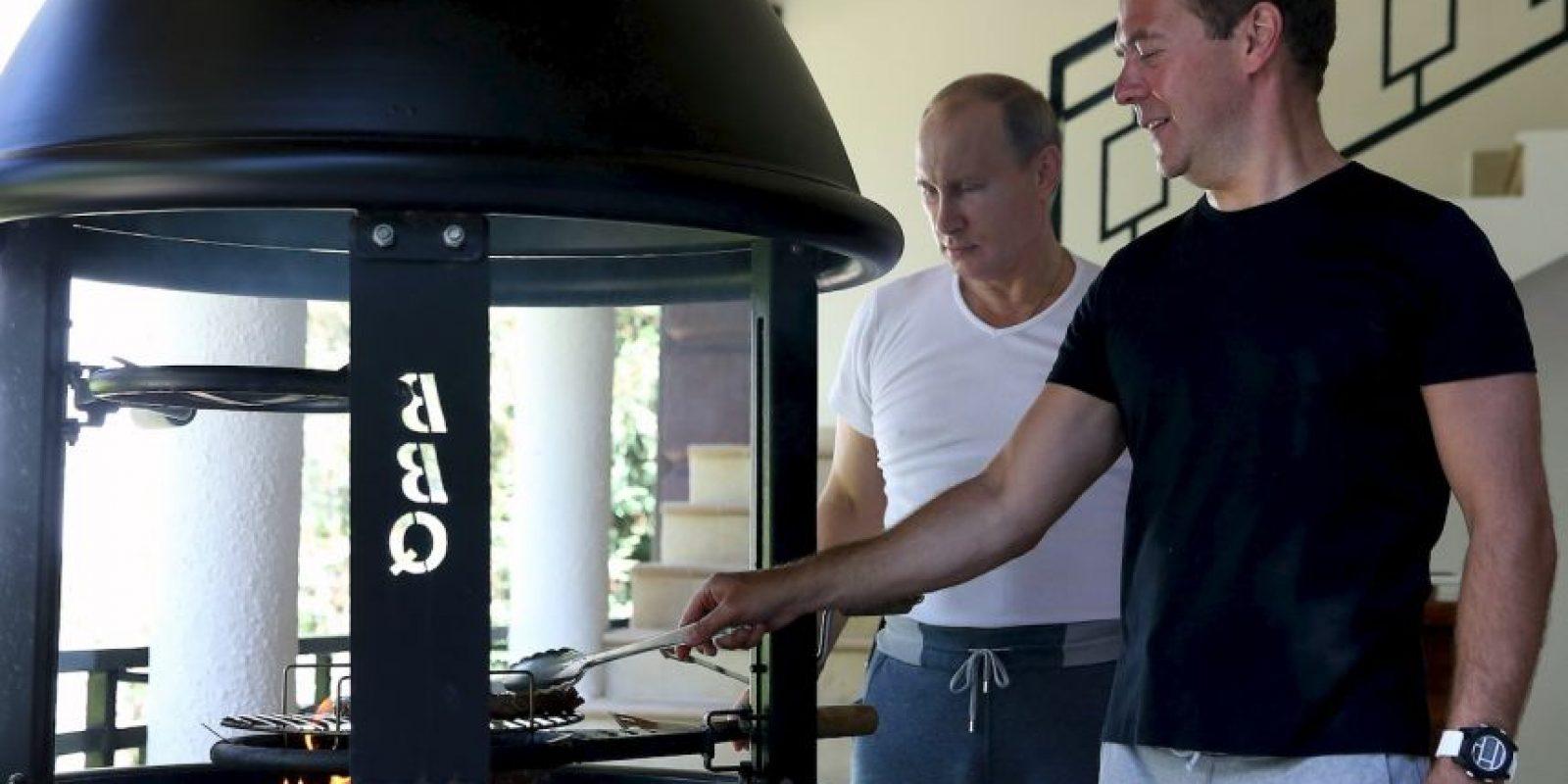 """Juntos """"preparan"""" su propio desayuno. Foto:AFP"""