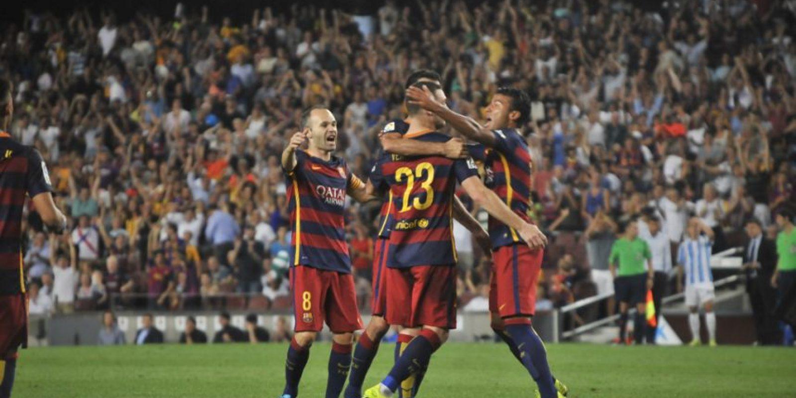 El único gol de la jornada lo marcó el defensor belga Thomas Vermaelen Foto:Ramón Mompió