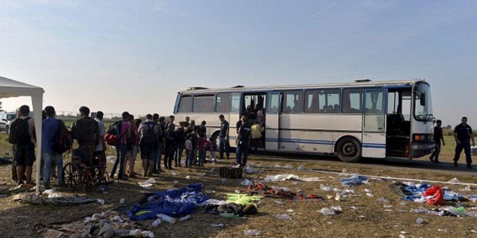 La policía cree que su intención es no enfrentar la deportación a Hungría. Foto:AP