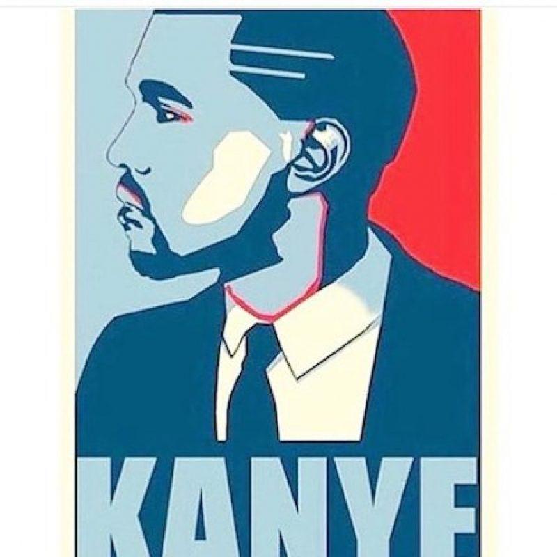 """Estos serían sus afiches de campaña, copia de """"Hope"""", la campaña de Barack Obama Foto:Instagram.com/explore/tags/kanyewest"""