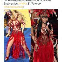 Y de que usó el mismo vestido que Shakira en la ceremonia de clausura del Mundial de Fútbol Brasil 2014 Foto:Twitter.com