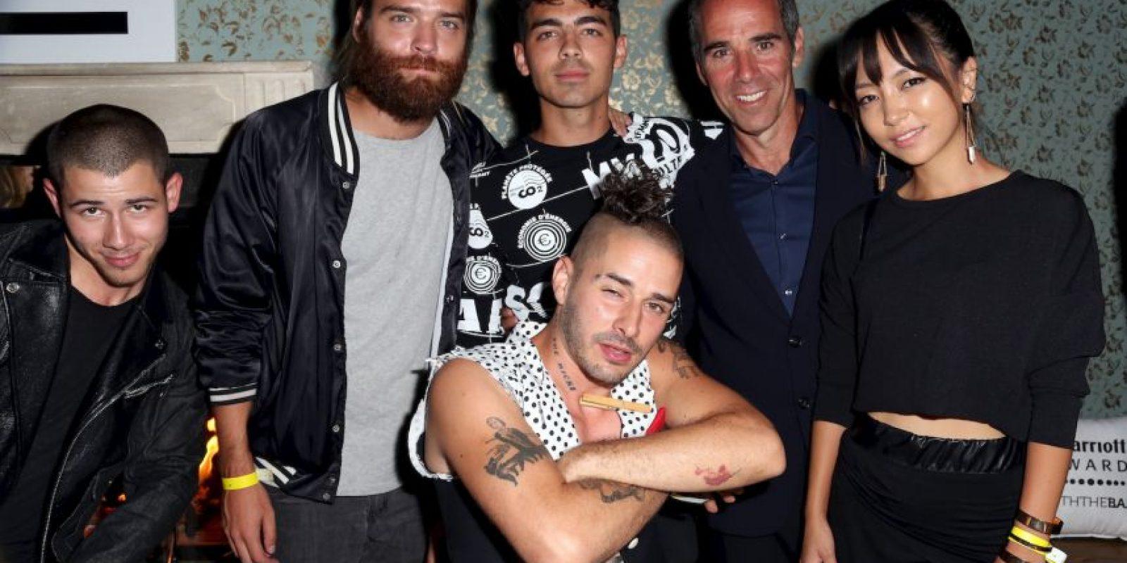 Nick Jonas, Joe Jonas y Monte Lipman Foto:Getty Images