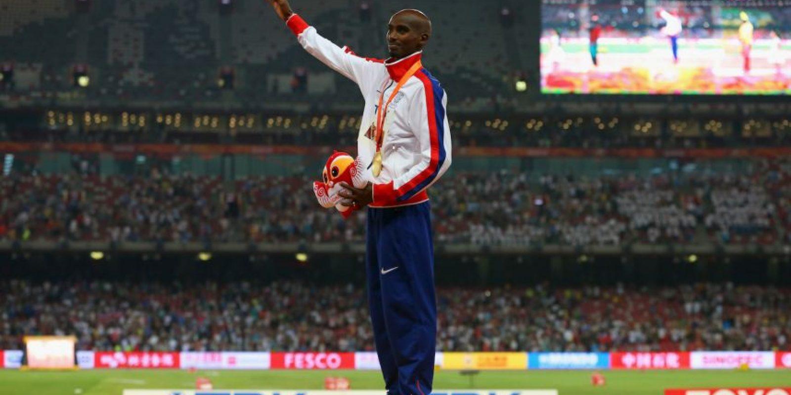 El británico consiguió el doblete en los cinco mil metros(13 minutos, 50 segundos y 13 centésimas de segundo) y 10 mil metros (27 mintos, un segundo y 13 centésimas de segundo) Foto:Getty Images