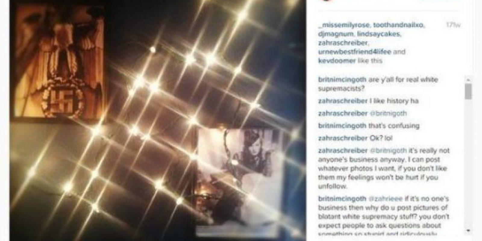 Pero volvieron a salir a la luz estas imágenes que publicó en 2012 Foto:Vía instagram.com/zahraschreiber