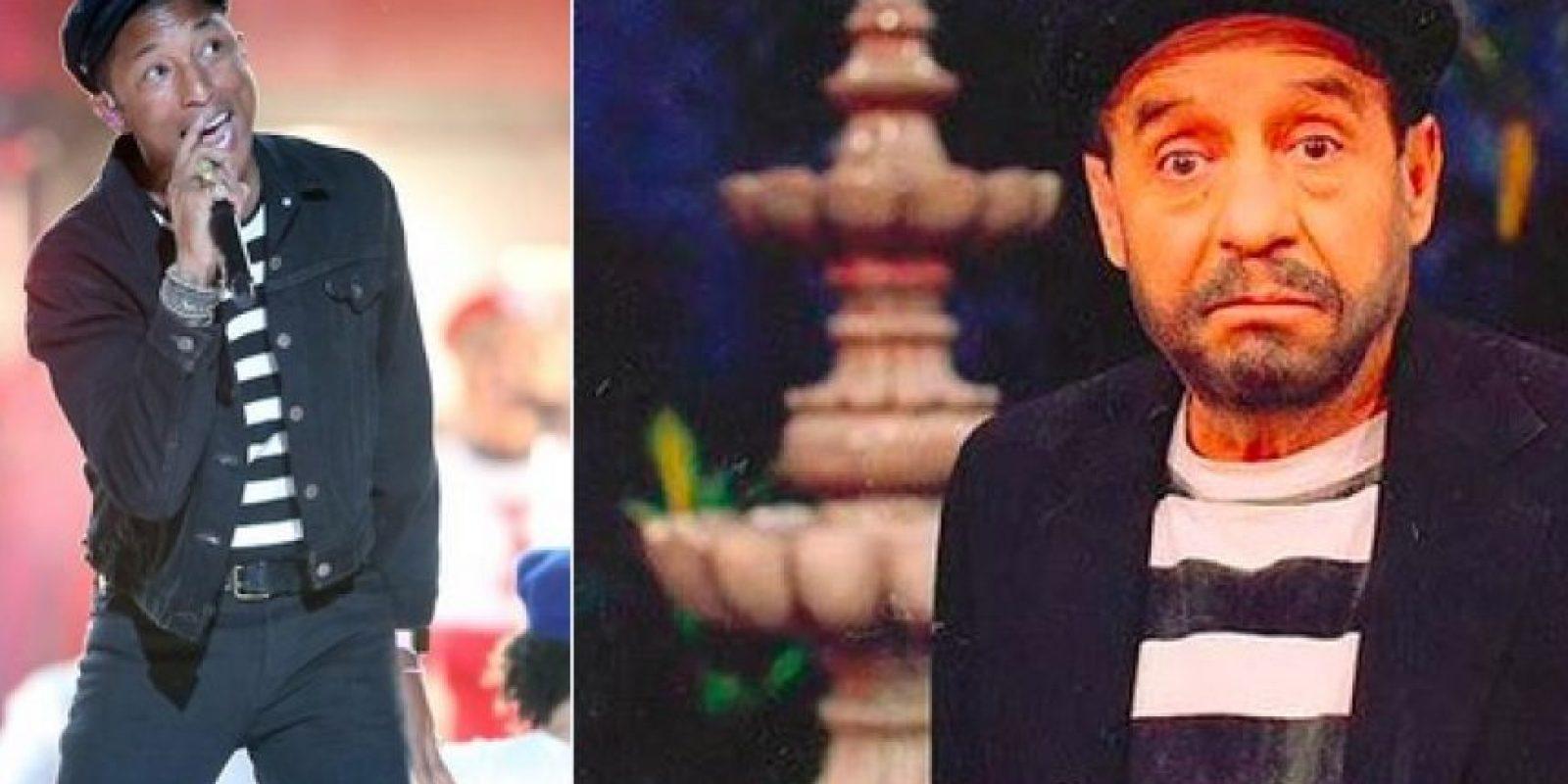 Bonito homenaje de Pharrel Williams a Chespirito… Foto:Vía Twitter